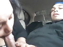 Nasty Milf Taking A Blowjob In The Car