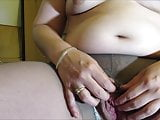 Chubby Hot Wife Fingers Her Hairy Pussy in Pantyhose