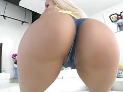 PAWG Blonde Latina Arsch Gefickt