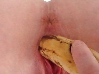 My bitch fucking a banana