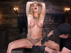 Big Boobed ALT Girl in Grueling Bondage and Tormented