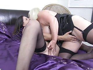 British Lingerie Big Tits video: LACEYSTARR - Lesbian Sex with Eva Johnson