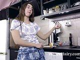 Mara Gri masturbates by her washing machine