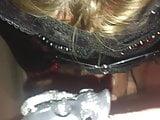 Sexfriend in school-girl sucking my cock