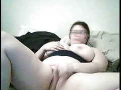 Fat Chubby Teen with big tits playing with her Pussy on Cam