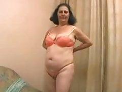 Brazilian granny masturbates
