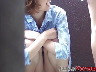 Asian Voyeur High Heels video: Japanese amateur babes flashing panties for voyeur