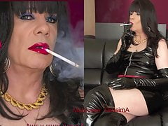 Shiny Smoking In Taut Boots