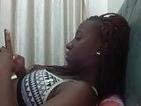 Sexy Busty Ebony Teen on Webcam