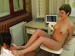 Pissing office girls
