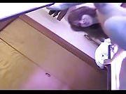 Tanning room spycam - immediate fingering