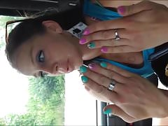 MILF Pamela Orange Toenails