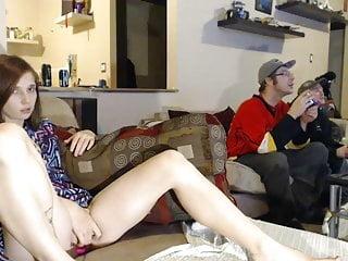 Fingering Tits Brunette video: Wife is teasing next Friends