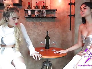 Asian Bdsm Femdom video: Fetisch-Concept.com - 2 girls with long cast legs Restaurant