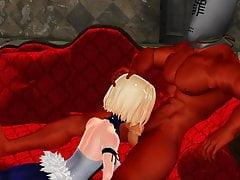 MMD Sexy Blondie i BigDaddy w Champagne Room GV00142