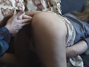 Sweet mature wife takes a dildo in ass