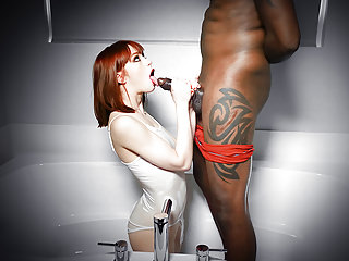 Interracial Redheads Small Tits video: TLBC - Sexy Escort Gets Throat Fucked By Black Cock