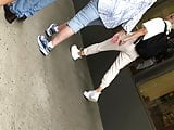 Teen girl shwoing off butt cheeks in shorts part 2