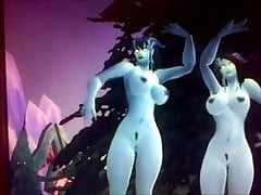 World of Warcraft jerk off 3 - hermanas Draenei