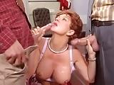 Raquel Devine Two Big Cocks