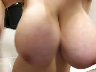 Tits Teen xxx: Teen with giant big tits posing on webcam