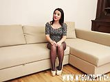 Casting Agent tricked brunette teen girl to suck his cock