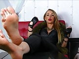 BARE FOOT & Blonde Soles Sexy 006
