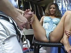 Big Tits MILF with beautiful Feet Fucked hard !