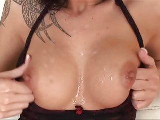 Tits Teen Blowjob video: Cum on Tits