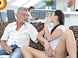DADDY4K. Cumshot in mouth culminates nice sex of daddy and..