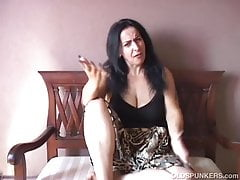 Naughty old spunker imagines you fucking her juicy pussy