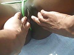Saniya's Pussy Spread By Two Men In Public!