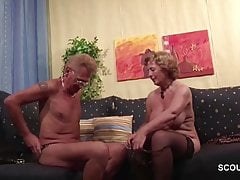 Niemiecka stara para po raz pierwszy odlewania roleplayów porno