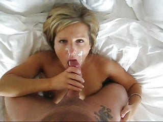Blonde Blowjob Facial video: Sexy Blonde Working A Cock For Cum
