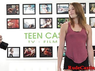 Bondage Petite Casting video: Petite casting beauty cockriding in closeup