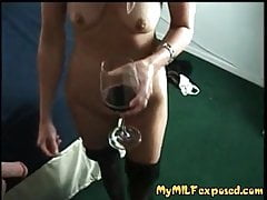 My MILF Exposed - Trashy granny sucking cock for living