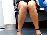 Candid Mature with Fuckable Legs on Subway