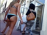 Candid voyeur hot bikini thick asses big tits shopping