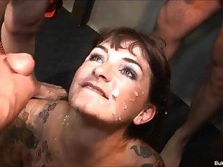 Cumshots Gangbang Facials video: Bukkake Fest UK Model Adreena Winters