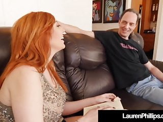Busty Redhead Lauren Phillips Blows & Bangs Her Sex Coach!