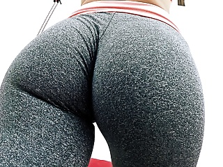Tattoos Yoga Big Natural Tits video: Huge Hangers Teen Working Out in Tight Spandex. Fat Cameltoe