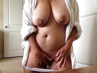 Amateur Masturbation video: busty pervert mature masturbate 1