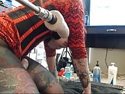 Crotchless pantyhose crazy tattoed bitch