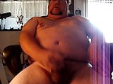 Chubby bear jacking off