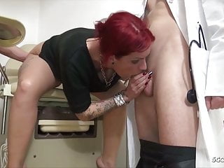 Hardcore Emo Teen video: Teen Anica Red Talk to 3some Fuck at Gynecologist - German