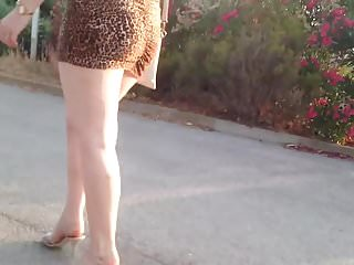 Upskirts Hidden Cams Voyeur video: MILF in very short dress spying
