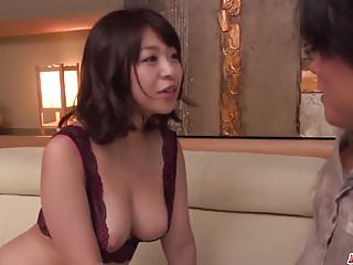 Hardcore Asian video: Milf in heats Wakaba Onoue amazing sex in bedroom with son