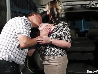 Bbw European xxx: Working big tits woman taking it from behind