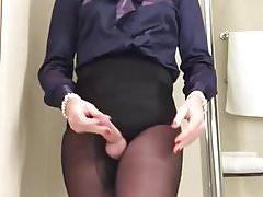 Masturbation in underwear