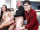 Creepy Old Couple Gives Sex Lessons To Hot Teen